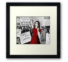 'Feminist pioneer'  Framed Print
