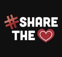 Hashtag Share The Love Heart Baby Tee