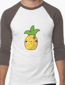 Kawaii Cute Pineapple Tropical Men's Baseball ¾ T-Shirt
