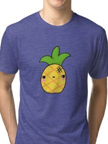 Kawaii Cute Pineapple Tropical Tri-blend T-Shirt