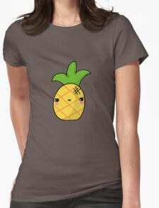 Kawaii Cute Pineapple Tropical Womens Fitted T-Shirt