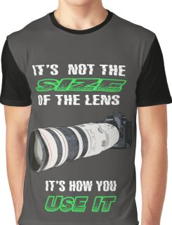 Size of the lens Graphic T-Shirt
