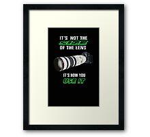 Size of the lens Framed Print