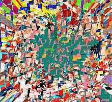 Paper Scrap Abstract Design by Robin Monroe