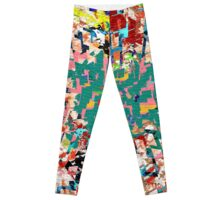 Paper Scrap Abstract Design Leggings