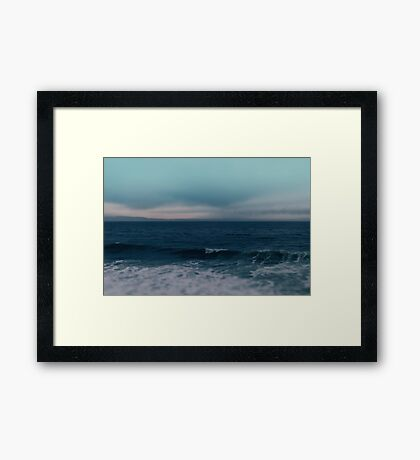 Blue California Ocean Framed Print