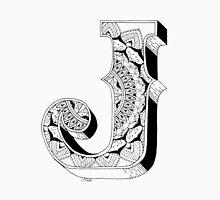 J - Mandala N°1 inside Alphabet N°1 Unisex T-Shirt