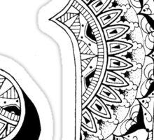 J - Mandala N°1 inside Alphabet N°1 Sticker