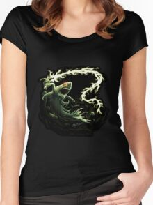 """""""Sharky Prime"""" summoned by Mordecai Women's Fitted Scoop T-Shirt"""