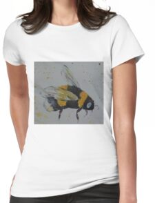Bumble bee in flight Womens Fitted T-Shirt