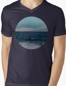 Blue California Ocean Mens V-Neck T-Shirt