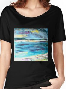Can I swim from here to there?  Women's Relaxed Fit T-Shirt