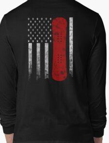 Snowboarding Flag Long Sleeve T-Shirt