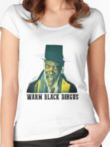 The Hateful Eight - Warm Black Dingus Women's Fitted Scoop T-Shirt