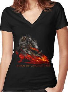 Guild Wars 2 - Born of Dragon Fire Women's Fitted V-Neck T-Shirt