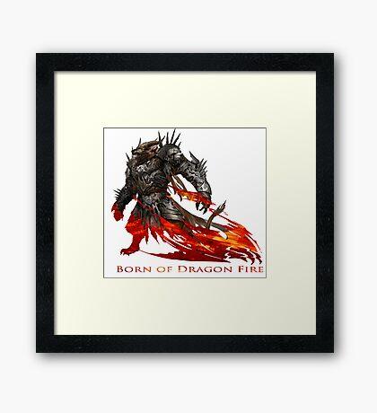 Guild Wars 2 - Born of Dragon Fire Framed Print
