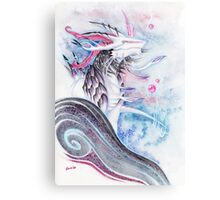 """Tempestas"" Dragon Watercolor Metal Print"