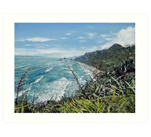 New Zealand Coastline Art Print