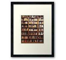 Classic Bookshelf Framed Print