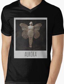 AURORA POLAROID Mens V-Neck T-Shirt