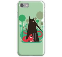 Red and wolf in the woods iPhone Case/Skin