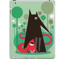 Red and wolf in the woods iPad Case/Skin