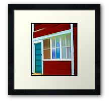 In The Window. Framed Print