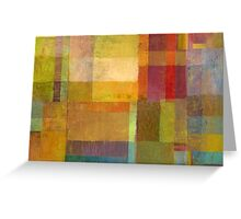 Color Collage with Green and Red Greeting Card