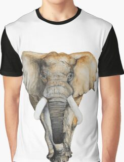 Watercolor hand drawn Elephant Graphic T-Shirt