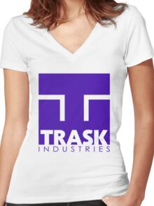 TRASK INDUSTRIES Women's Fitted V-Neck T-Shirt