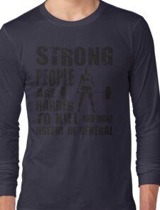 Strong People (Girl Deadlift) Long Sleeve T-Shirt