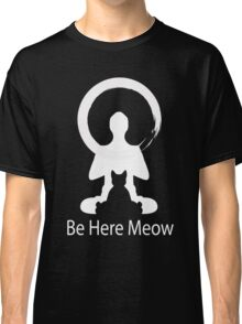 Yoga Meow Enso Zen Circle of Enlightenment, Meditation, Buddha, Buddhism, Japan Classic T-Shirt