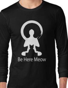 Yoga Meow Enso Zen Circle of Enlightenment, Meditation, Buddha, Buddhism, Japan Long Sleeve T-Shirt