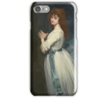 George Romney PORTRAIT OF MRS. JORDAN AS PEGGY IN THE COUNTRY GIRL, iPhone Case/Skin