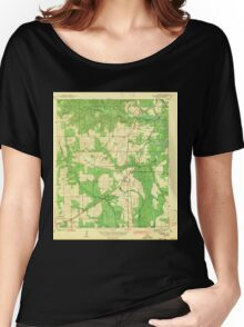 USGS TOPO Map Alabama AL Theodore 305446 1943 Women's Relaxed Fit T-Shirt