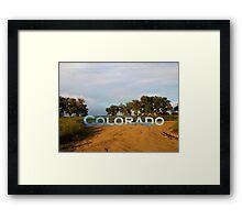 Colorado plains  Framed Print