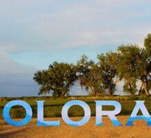 Colorado plains  Sticker