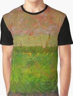 Abstract Landscape Series - Summer Fields Graphic T-Shirt