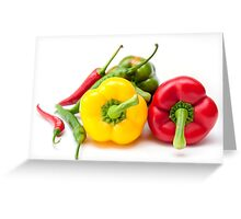 Mixed Peppers 2 Greeting Card