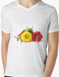 Mixed Peppers 2 Mens V-Neck T-Shirt