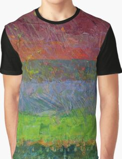 Abstract Landscape Series - Blue Waters Graphic T-Shirt