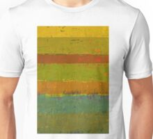 Teal and Chartreuse Layers Unisex T-Shirt