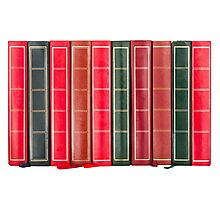 Row of Old Books Showing Spines Photographic Print
