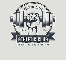 Retro gym logo on a light background Unisex T-Shirt