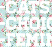 pro-cats, pro-choice, pro-feminism Sticker