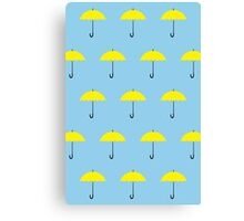 HIMYM Yellow Umbrella Canvas Print