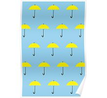 HIMYM Yellow Umbrella Poster