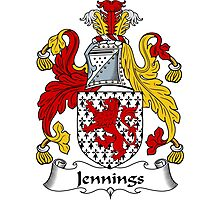 Jennings Coat of Arms / Jennings Family Crest Photographic Print