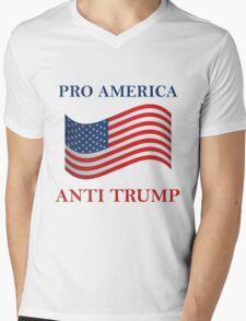 Pro America Anti Trump Mens V-Neck T-Shirt
