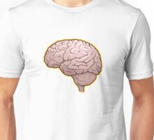 Brain with Orange Glow Unisex T-Shirt